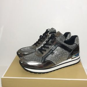 Michael Kors Maddy Trainer Crystal sparkling shoes